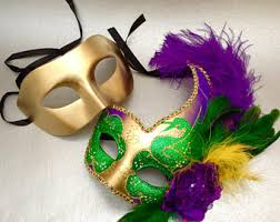 green mardi gras mask purple green gold etsy