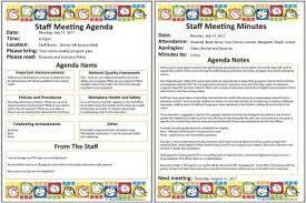 staff meeting templates aussie childcare network