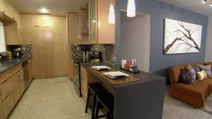 open kitchen floor plans with islands updating a galley kitchen video hgtv