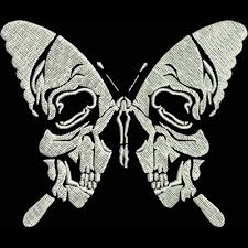 skull butterflies mini kreations by kara