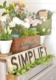 vignette home decor vintage dresser and a pretty spring vignette