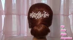 hair buns images easy low bun wedding hairstyle for medium hair tutorial updo