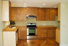Bamboo Flooring In Kitchen The Interior Of A New Small Kitchen With Bamboo Flooring And