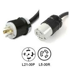 l21 30p to l5 30r power cord 1 foot 30 amp 208v power cable