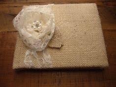 Rustic Wedding Albums Rustic Wedding Album Burlap Wedding Album By Scrapsofluv 30 00