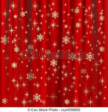 Snowflake Curtains Christmas Clipart Vector Of Christmas Background With Red Curtain And Gold