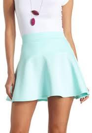 light blue skater skirt scuba skater skirt 10 liked on polyvore featuring skirts
