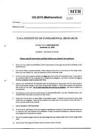 tifr msc mathematics entrance exam question paper 2017 2018