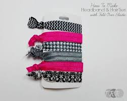ribbon hair ties how to make headbands and hair ties with fold elastic the
