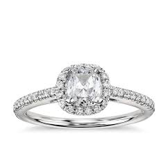 engagement ring settings only cushion cut halo diamond engagement ring in 14k white gold 1 4 ct