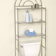 beautiful bathroom space saver over toilet chrome with 3 shelves