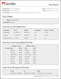 it support report template sle sla it support service level agreement template agreement