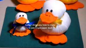diy crafts babyshower crepe paper duck ronycreativa english