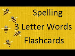 spelling 3 letter words flashcards for baby and toddlers early