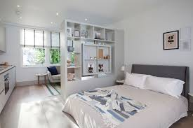 Room Divider Ideas For Bedroom Awesome Studio Apartment Room Divider Photos Interior Decorating