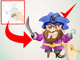 how to draw a cartoon pirate 13 steps with pictures wikihow