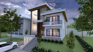 villa design sketchup exterior 3 stories villa design drawing from elevation