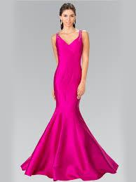 sleeveless long evening dress with trumpet hem sung boutique l a