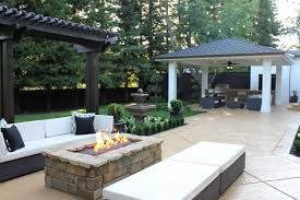 backyard cabana ideas exterior design great square gas fire pits with wicker furniture