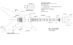 free ml dimebag darrell style guitar templates instruments