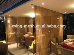 chains room divider metal wire mesh room divider hanging ceiling