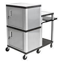 multimedia cart with locking cabinet adjustable multimedia cart by bretford tv stands pinterest