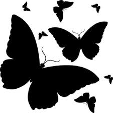 black butterfly clipart