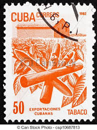 timbre bureau de tabac affranchissement cubaine 1982 cuba timbre tabac