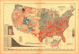 Can I See A Map Of The United States by Vintage Election Maps Show History Of Voting