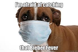 Sick Puppy Meme - i m afraid of catching that bieber fever sick dog quickmeme