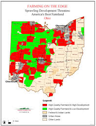 Cities In Ohio Map by Farming On The Edge American Farmland Trust