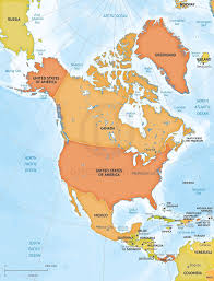 Map North And South America by Of North America America Latitude And Longitude Map Throughout