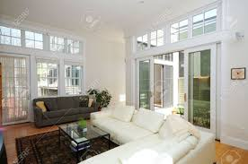 Modern Home Living Room Pictures Modern Home Interior Open Plan Living Room And Atrium Stock