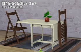 Ikea Fold Away Table And Chairs Around The Sims 4 Custom Content Download Ikea Foldable Chair