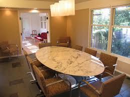 saarinen marble oval dining table 96