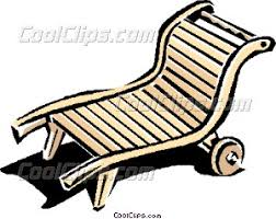 Patio Furniture Clips Lounge Chair Or Deck Chair Vector Clip Art