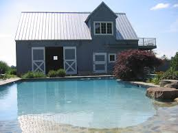 modern simple design of the barn house pre fab that has grey