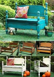 Diy Backyard Storage Bench by Old Beds Got A Makeover Into These Wonderful Garden Benches Http