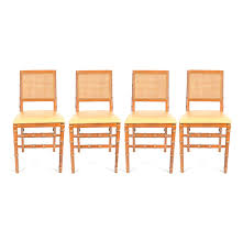 Stakmore Folding Chairs by Vintage Set Of Faux Bamboo Folding Chairs By Stakmore Co Ebth