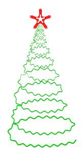 spiral christmas tree scribble design spiral christmas tree royalty free stock image