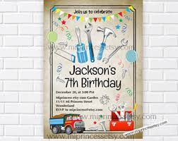 construction tool thank you card personalized