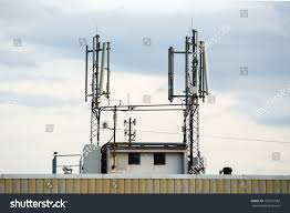 Radio Base Station Equipment For Gsm Gsm Transceiver On Roof Block Base Stock Photo 192691583