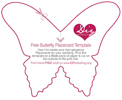free diy wedding placecard butterfly template large m