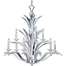 Maxim Chandelier Maxim Lighting Paradise 9 Light Plated Silver Multi Tier