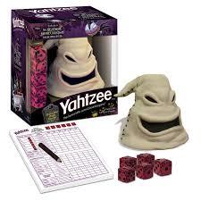 amazon com nightmare before christmas yahtzee oogie boogie toys