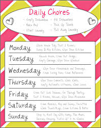 my custom cleaning schedule i made wrevhn the happy homemaker