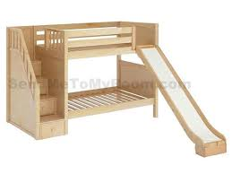 Slide Bunk Bed Stellar Medium Bunk Bed With Slide And Staircase Boys Room