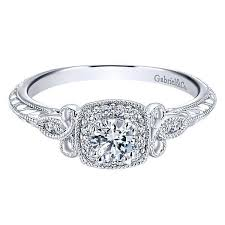 white gold halo engagement rings 14k white gold 37cttw vintage halo engagement ring