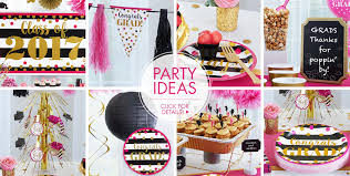 graduation party decorating ideas pink black graduation party supplies party city
