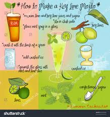 mojito recipe card how make key lime mojito colorful stock vector 99305588 shutterstock